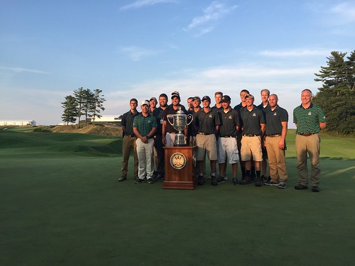 Brandon Coe - Interned at Whistling Straits (Wisconsin) for the 2015 PGA Championship, Brandon is standing right of winner Jason Day and the PGA Championship Trophy