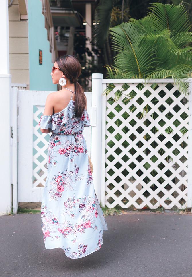 short summer maxi dress hawaii vacation petite style