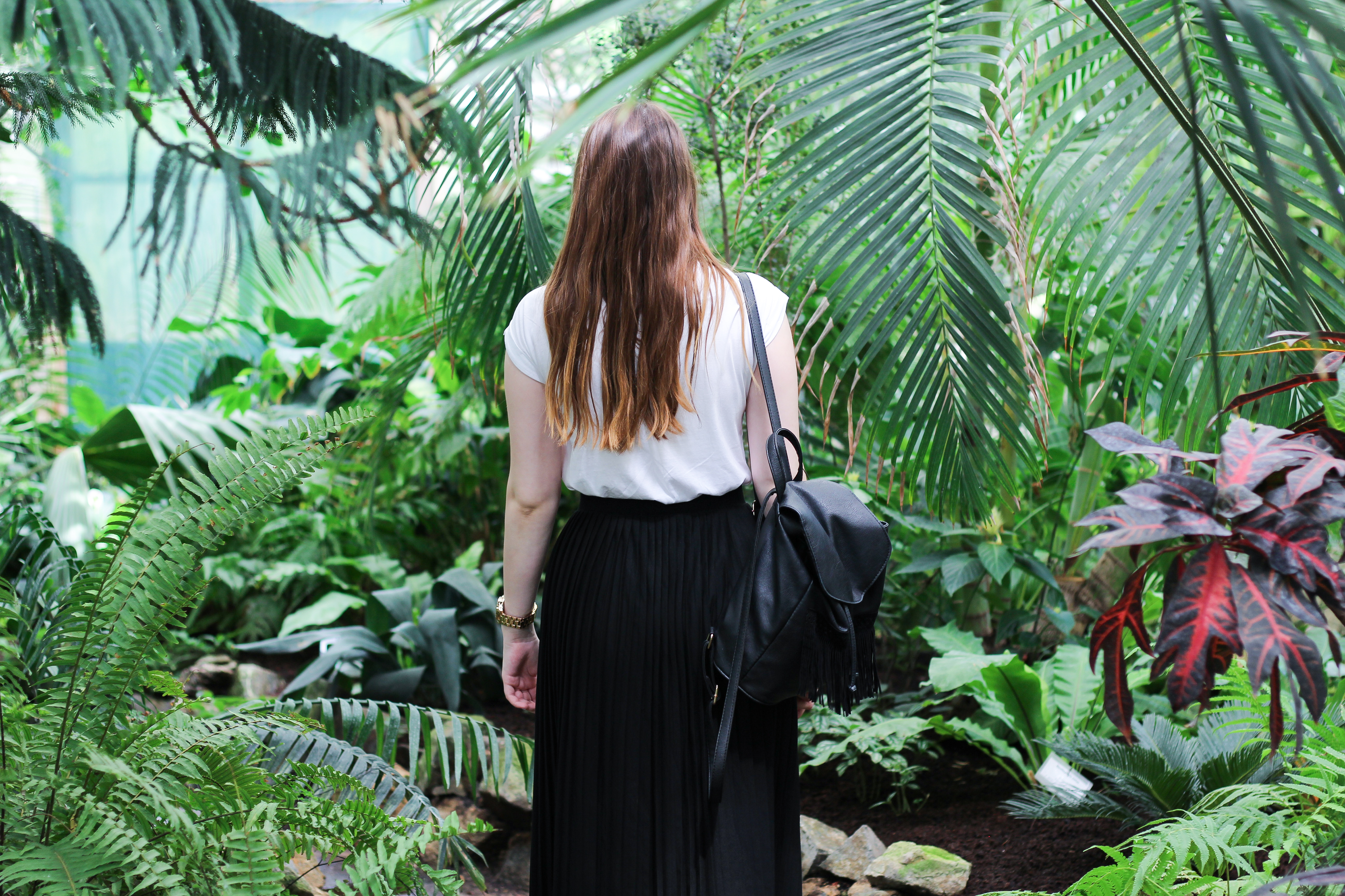 girl garden jungle