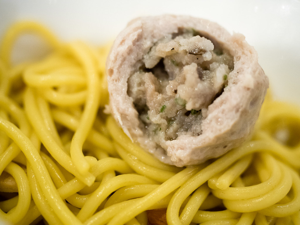 Pork ball with minced pork inside.