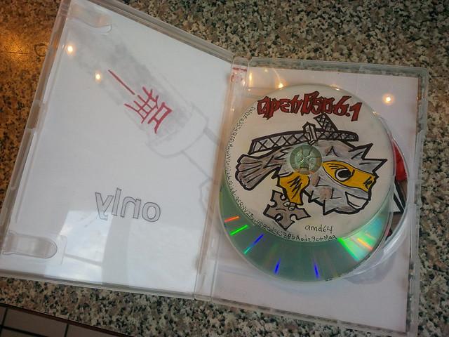 Hivatalos OpenBSD 6.1 CD-készlet - az egyetlen
