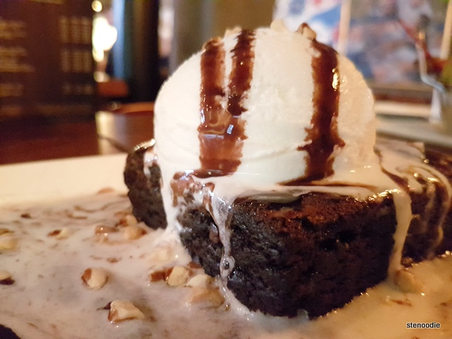 The Loose Moose chocolate brownie