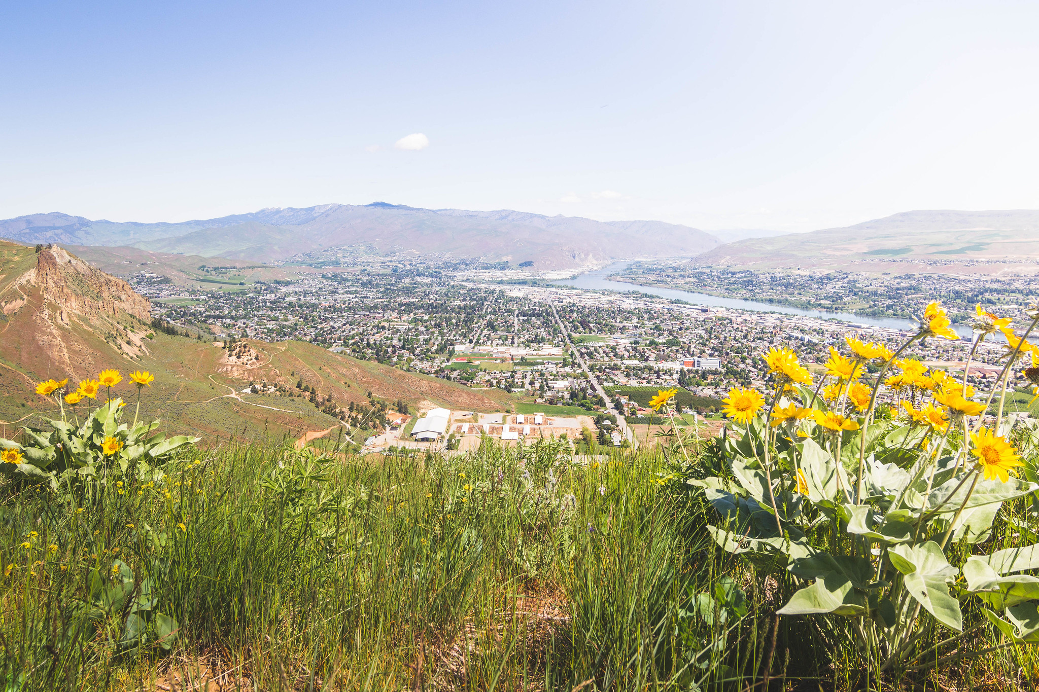 City of Wenatchee from near Rooster Comb