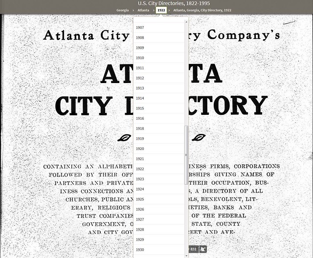 Searching the Atlanta City Directory