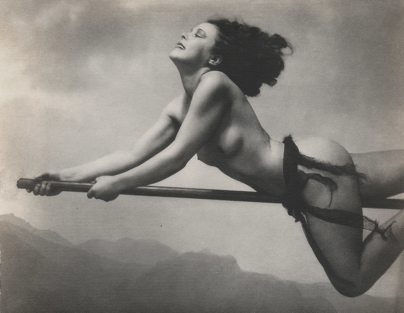 William Mortensen - Witch On Broom, 1928