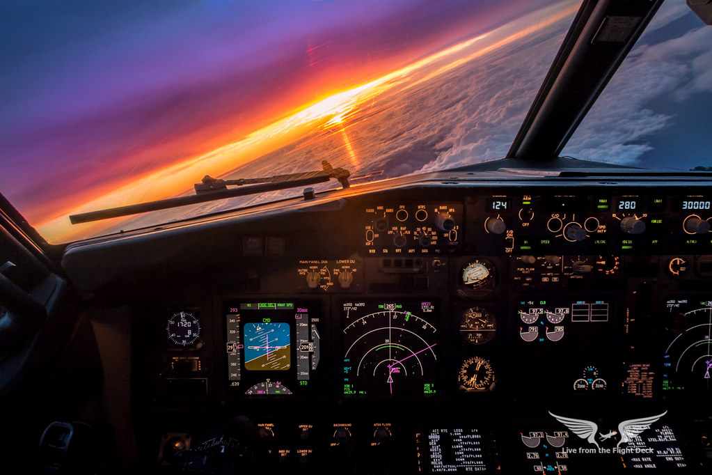 Boeing 737 cockpit sunset canon g7x gc232 flickr - Boeing wallpapers for desktop ...