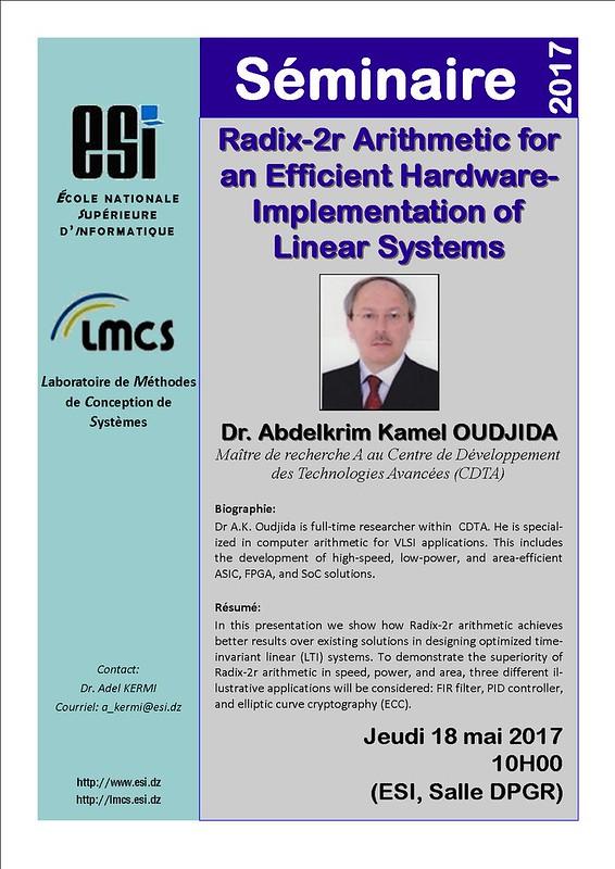 Séminaire LMCS.Dr. Abdelkrim Kamel OUDJIDA