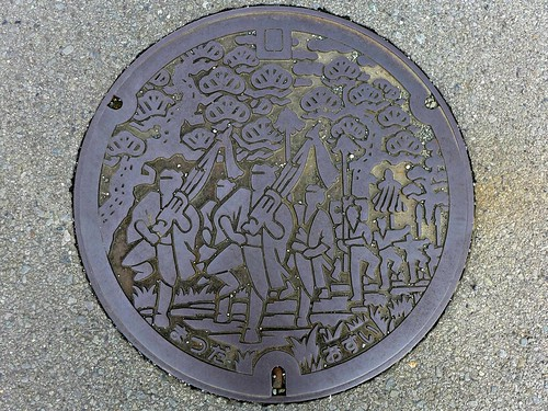 Matsuda Kanagawa, manhole cover (神奈川県松田町のマンホール)