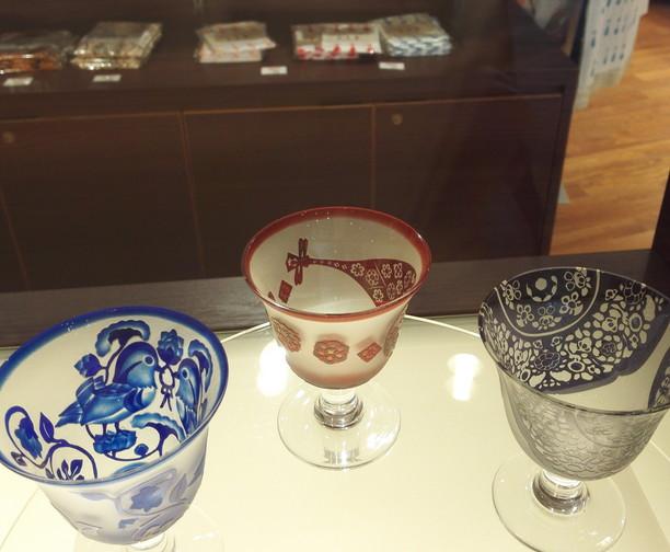 正倉院の琵琶柄グラス@奈良国立博物館