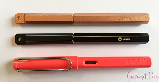 Review YStudio The Weight of Words Portable Fountain Pen - Brassing & Classic @AppelboomLaren 18