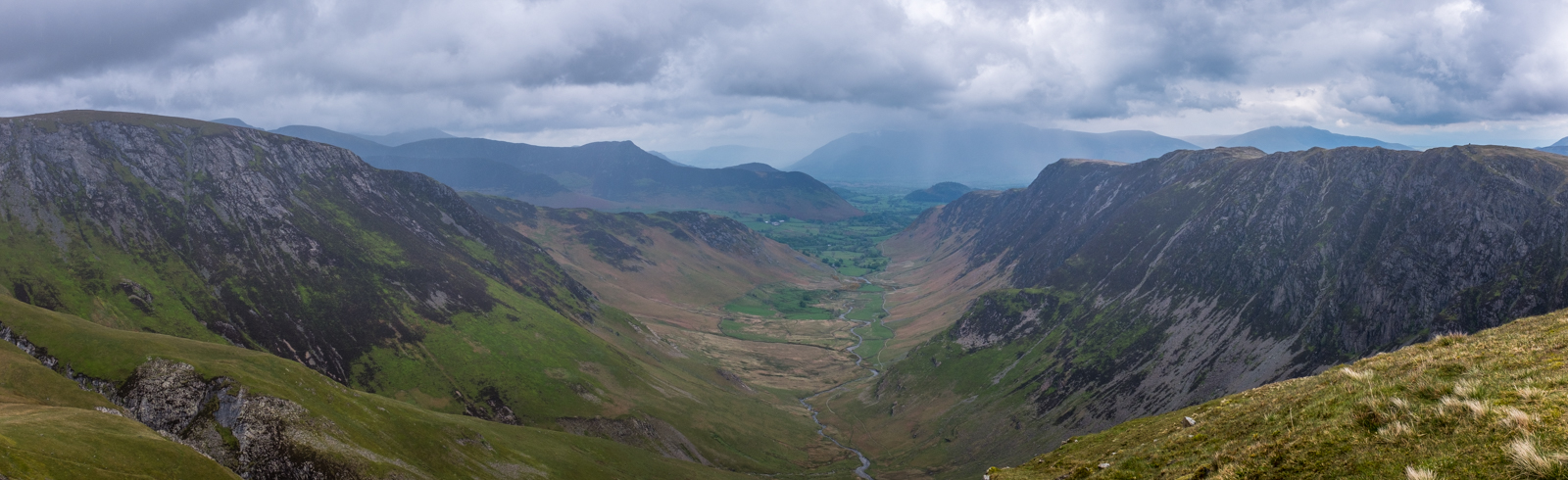 Newlands Valley from above Dalehead Crags