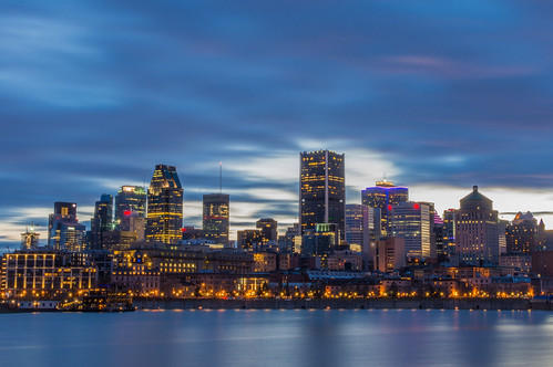 beautiful montreal at blue hour montr al l 39 heure bleue flickr. Black Bedroom Furniture Sets. Home Design Ideas