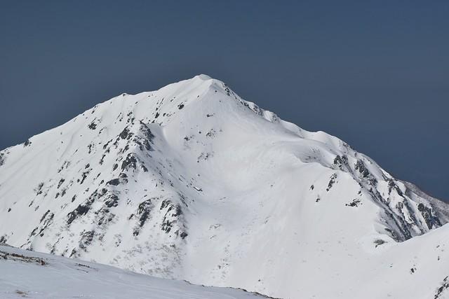 中央アルプス・冬の三ノ沢岳