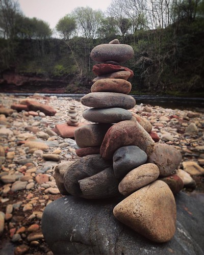 Stones by the Esk . #edzell #angus #scotland #scottishscenery #riveresk #river #stones #piledstones