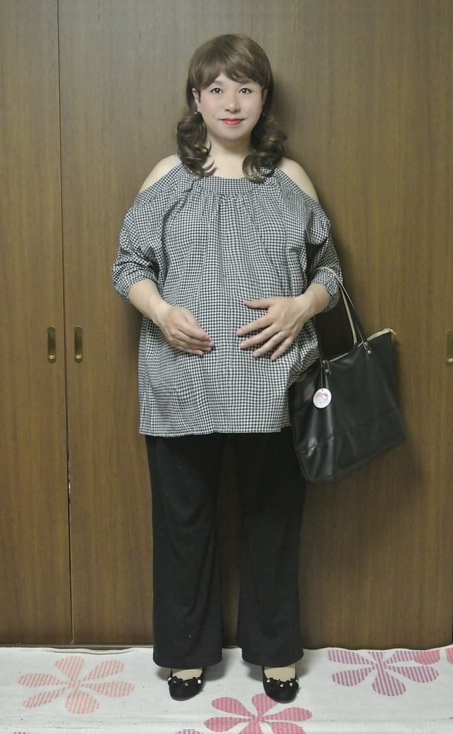 Off-shoulder Maternity Tunic #1