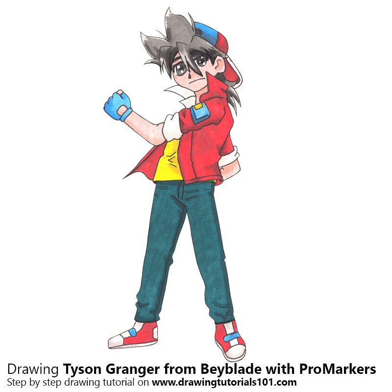 tyson granger from beyblade with promarkers speed drawing flickr