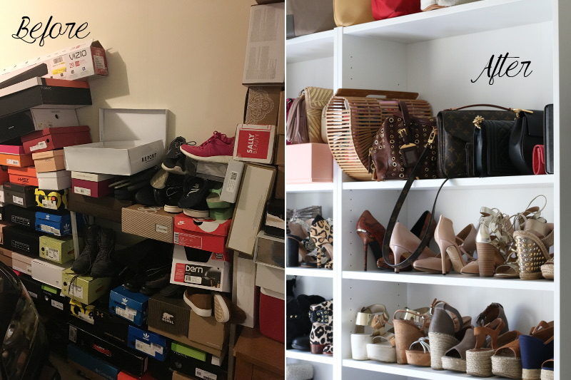 Shoe Shelf Before After 1