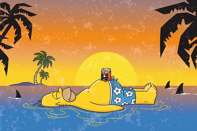 homer-shark-infested-waters