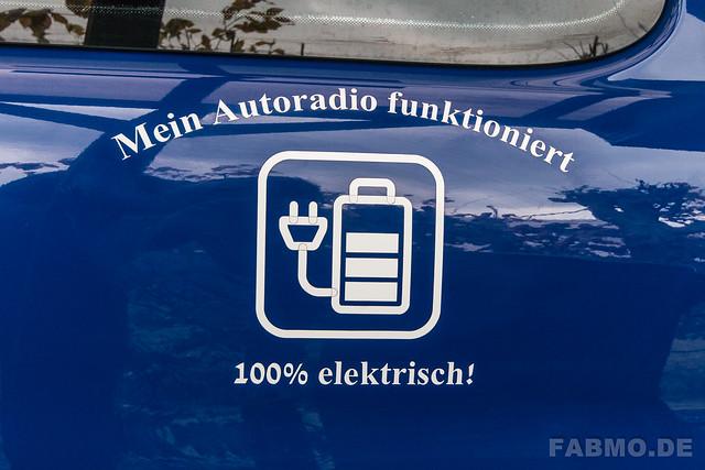 Leider hat mein Auto keinen elektrischen Antriebsmotor, auch wenn die Folierung was anderes vermuten ließe