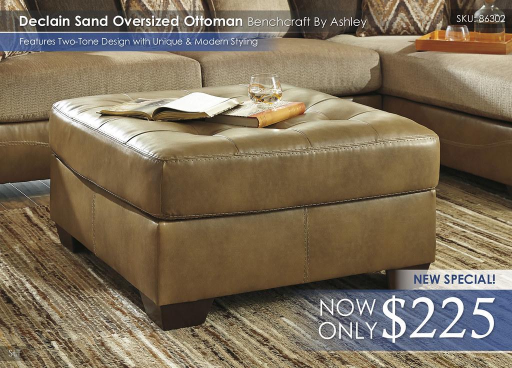 Declain Sand Ottoman 86302-08
