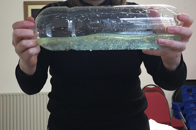 Wave machine activity from chapter 1 of Messy Church Does Science