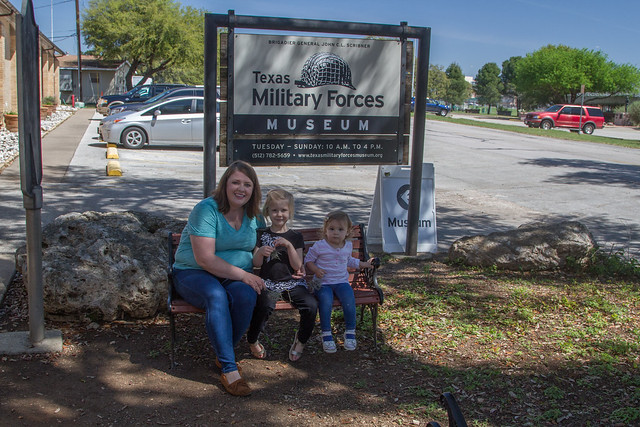 Family at Texas Military Forces Museum