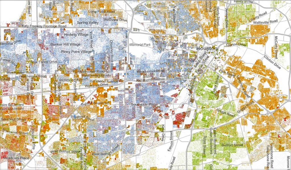 Houston and Immediate Vicinity Mapped by Race and Ethnicit  Flickr