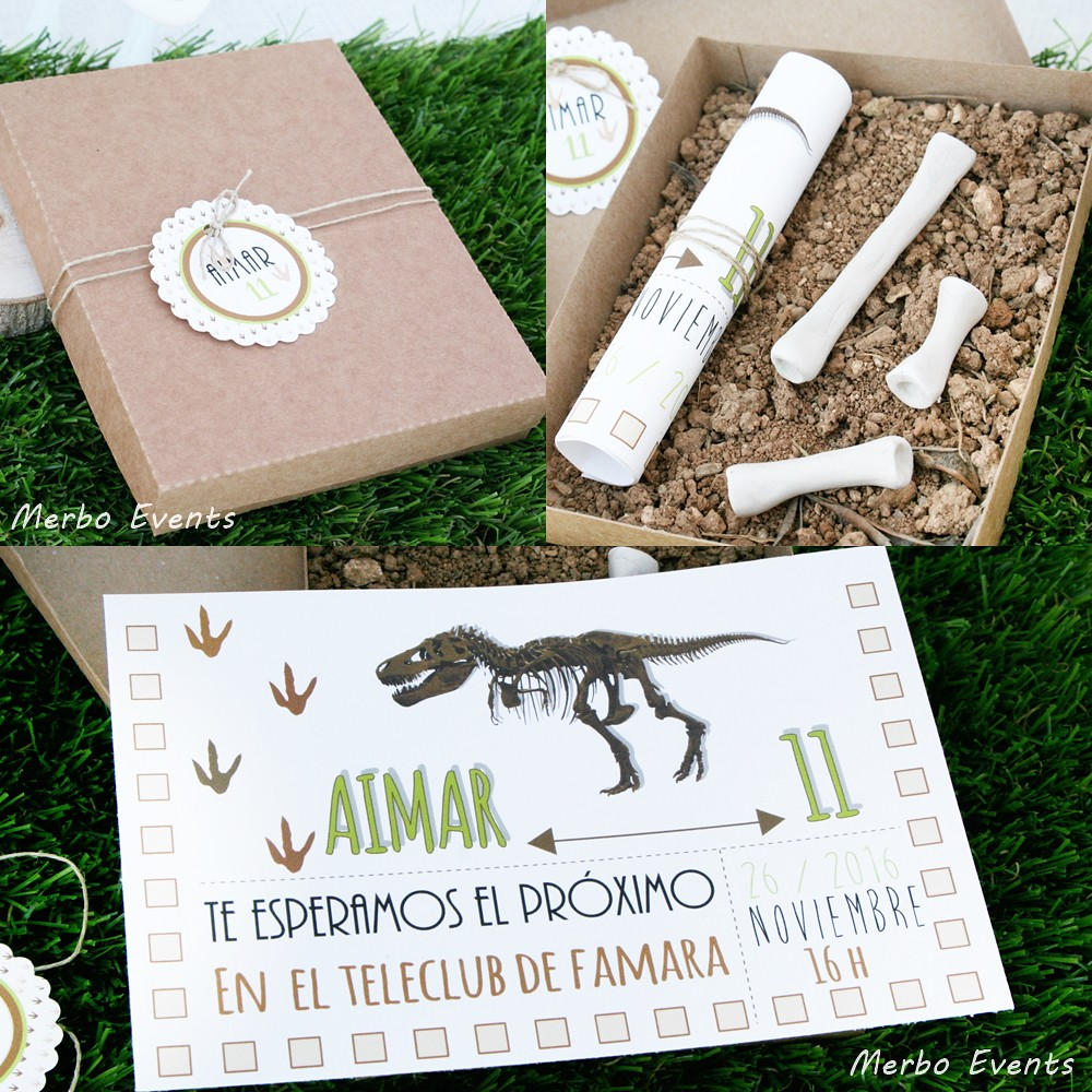 invitaciones dinos Merbo Events