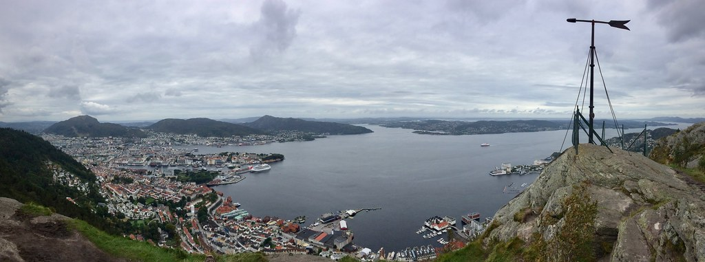 View of Bergen from Sandviksfjellet