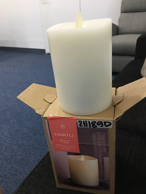 Gift from Joyce,  candle with moving flame
