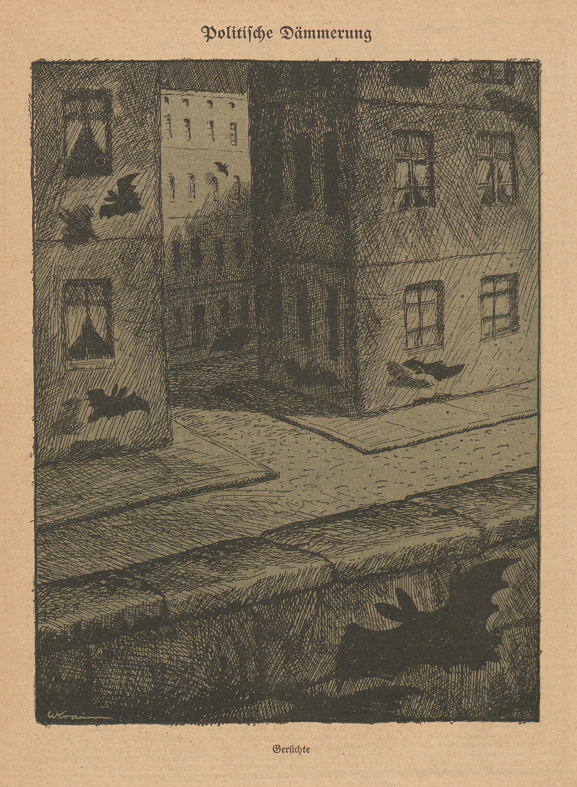 Willibald Krain - Political Twilight, 1923