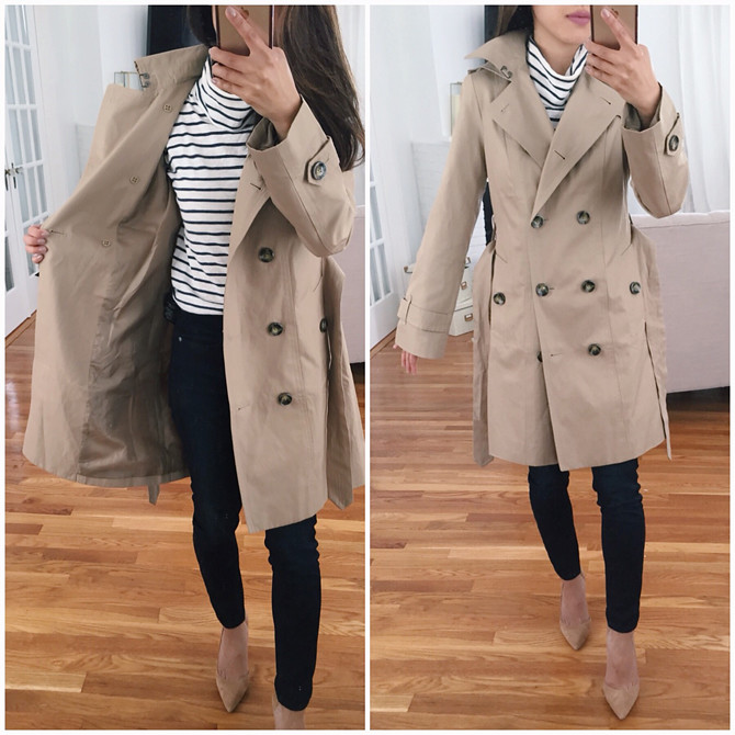 London Fog Petite Hooded Classic Trench Rain coat review
