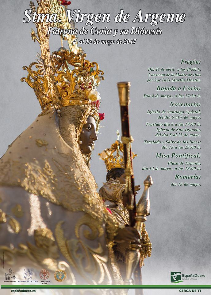 El sábado día 29 de abril se celebra el Pregón en Honor a Ntra. Sra. Stma. Virgen de Argeme