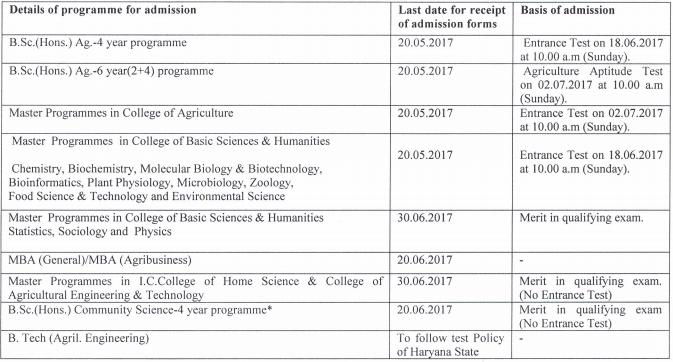 CCS HAU Application Form 2017