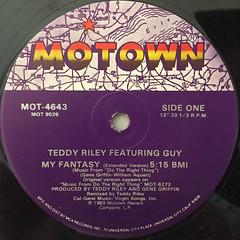 TEDDY RILEY featuring GUY:MY FANTASY(LABEL SIDE-A)