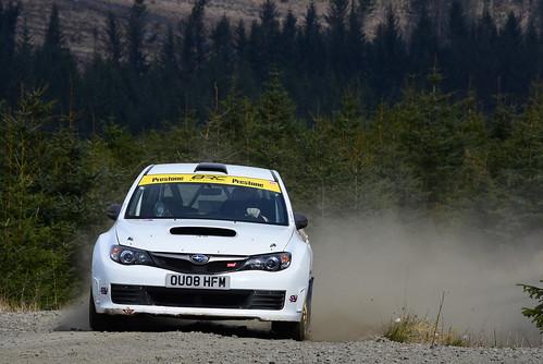 Spencer Wilkinson - Glyn Thomas, Subaru Impreza, MSA British Rally Championship, Carlisle 2017