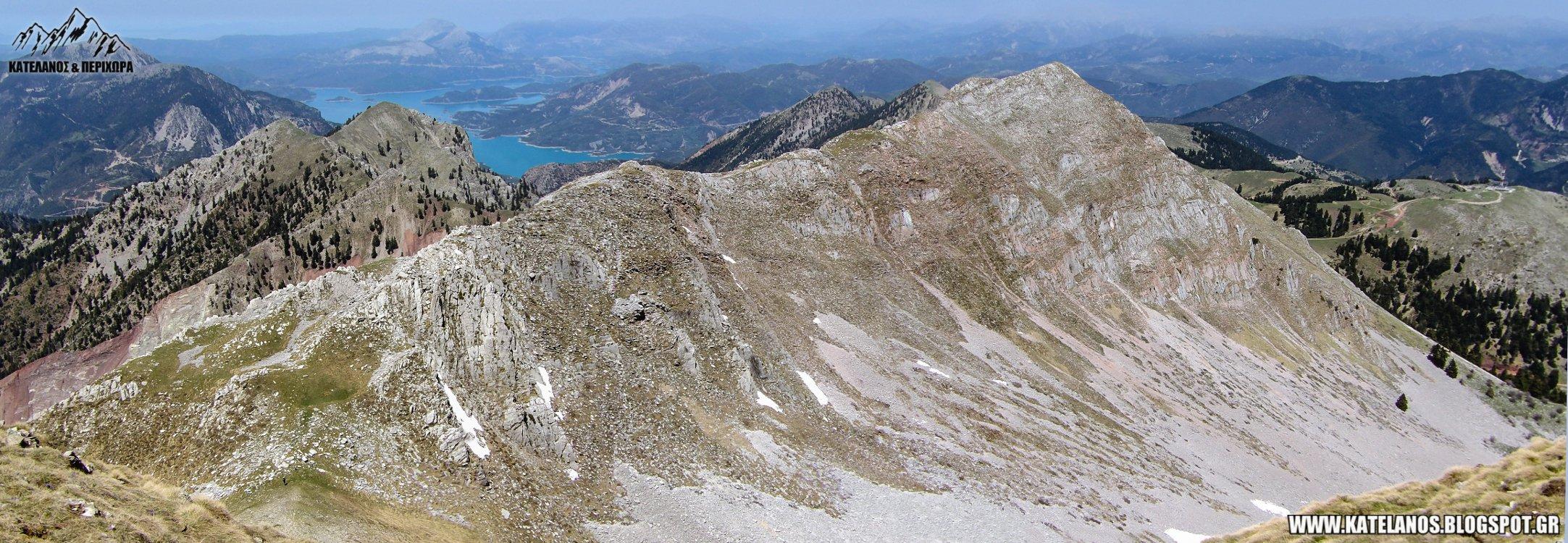 βορεια κορυφη χελιδονας λιμνη κρεμαστων βουνο ευρυτανιας