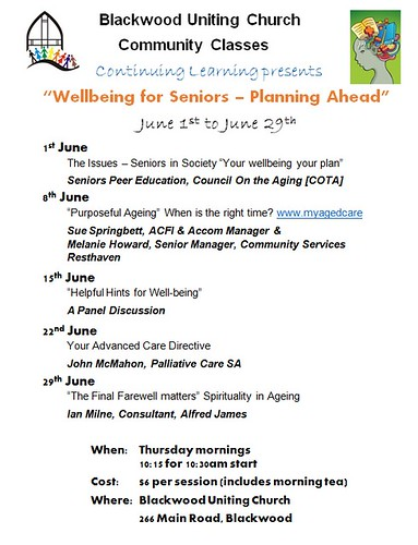 Wellbeing for Seniors - Planning Ahead