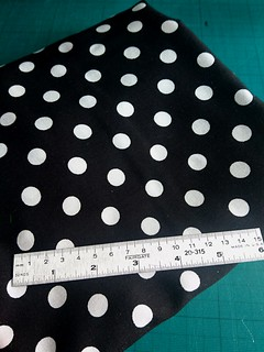 Spot Viscose Challis - Black fabric