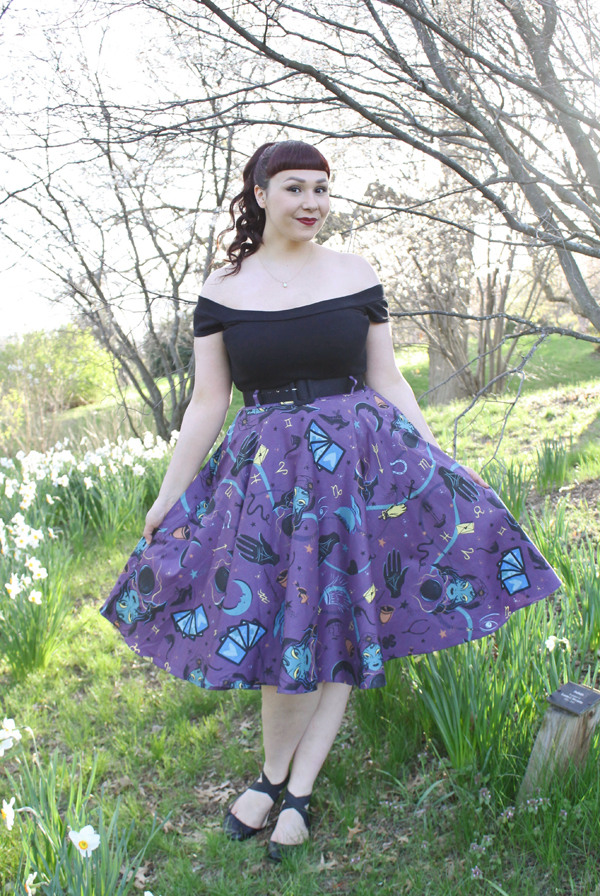 pinup girl clothing fortune teller skirt
