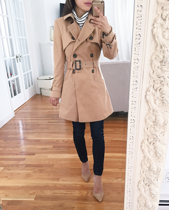 tan brown trench spring jacket review petite outfits