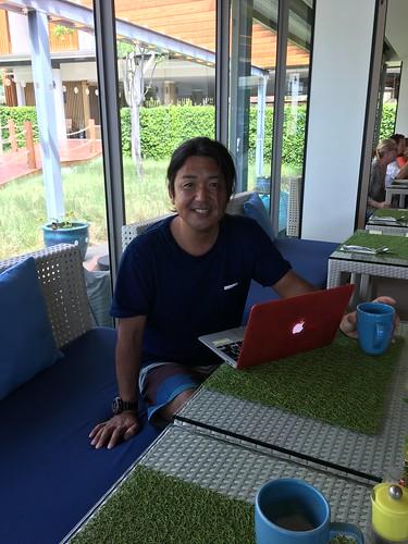 今日のサムイ島 5月11日水中写真家の鍵井靖章さん来島