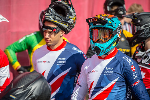 Great Britain Cycling Team at the UCI BMX Supercross World Cup - round one