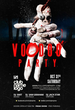 Halloween Voodoo Flyer Template