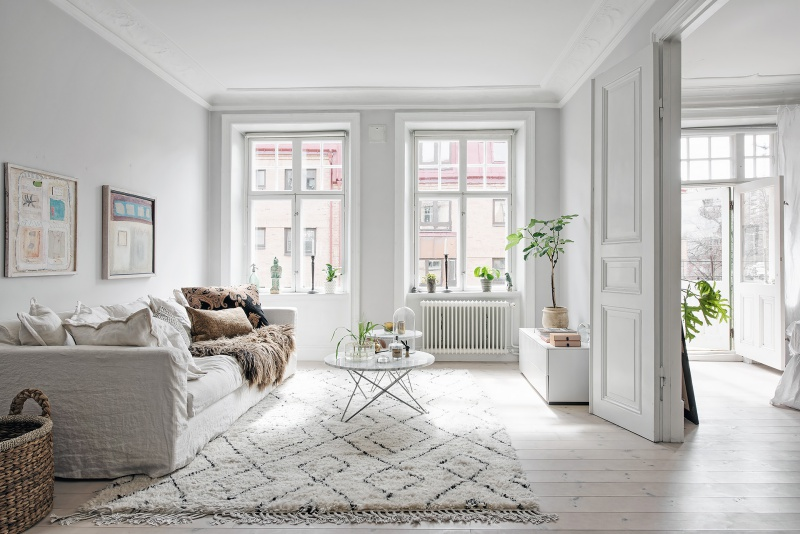 Fresh and Bright Scandinavian Home