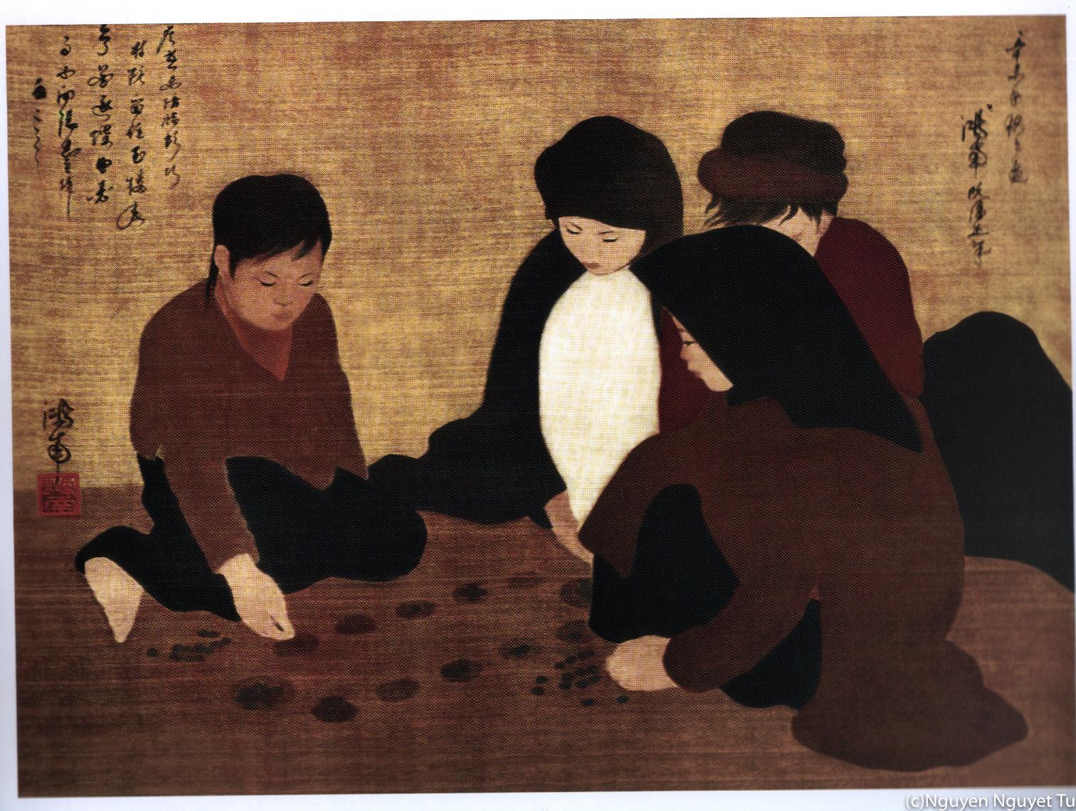 グエン・ファン・チャン《オーアンクァン遊び》(19311年、福岡アジア美術館蔵)