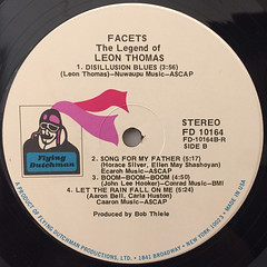 LEON THOMAS:FACETS THE LEGEND OF LEON THOMAS(LABEL SIDE-B)