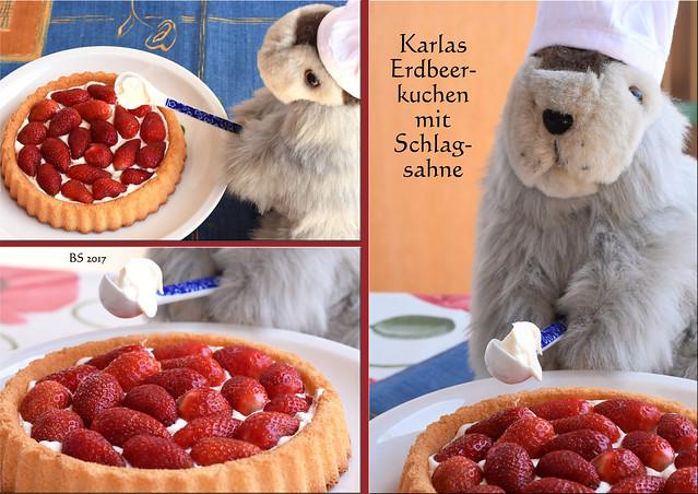 Mai 2017 ... Chefköchin Karla Kunstwadl garniert einen kleinen Erdbeerkuchen mit Schlagsahne ... Fotos und Collagen: Brigitte Stolle