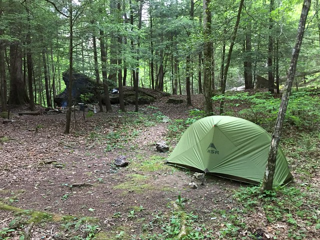 Campsite near Rough Trail and Koomer Ridge Trail