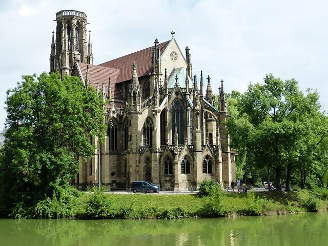 Stuttgart city center Feuersee